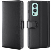 OPPRO OnePlus Nord 2 Wallet Case Genuine Leather Black