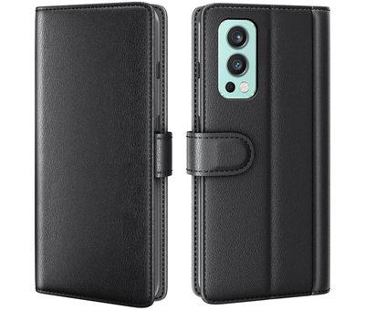 OPPRO OnePlus Nord 2 Wallet Hoesje Echt Leder Zwart