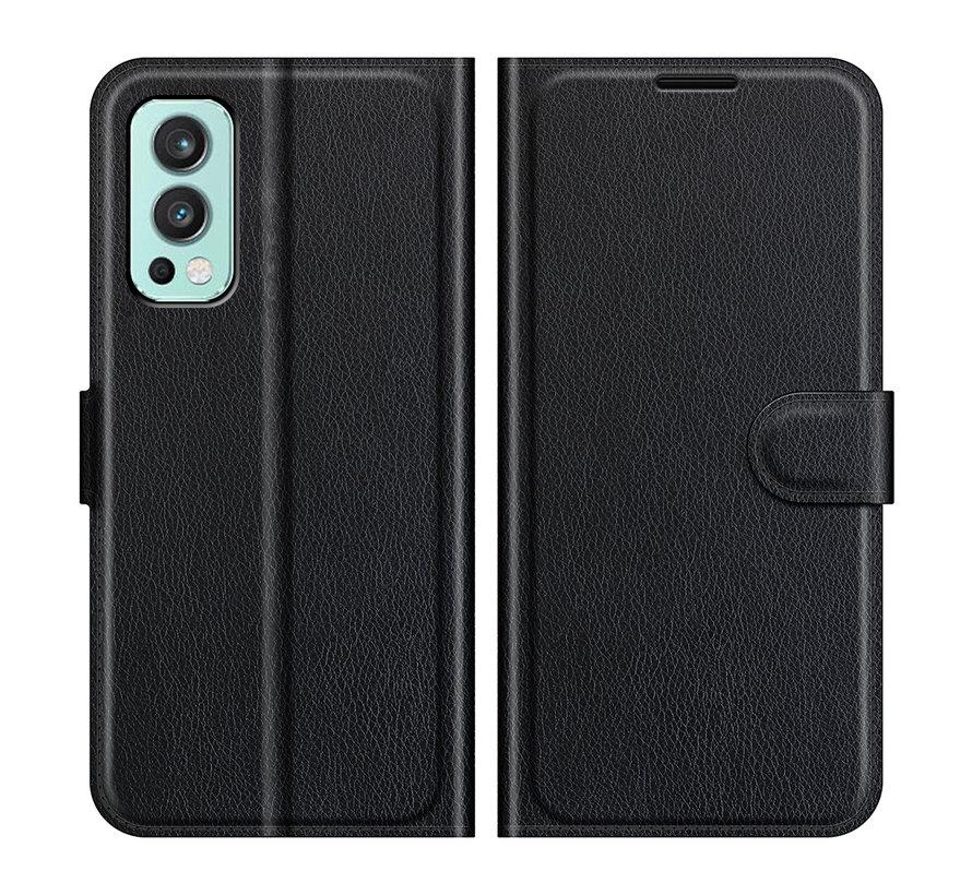OnePlus Nord 2 Wallet Flip Case Schwarz