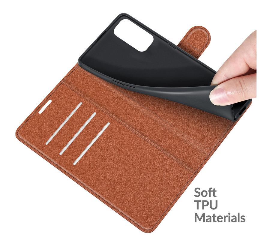 OnePlus Nord 2 Wallet Flip Case Braun