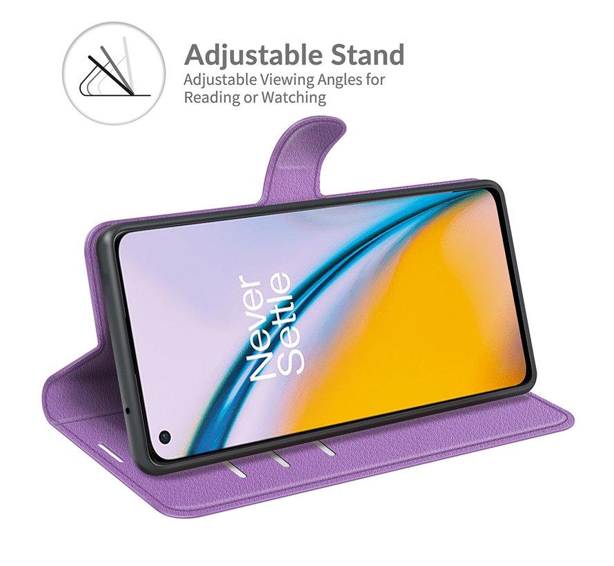 OnePlus Nord 2 Wallet Flip Case Paars