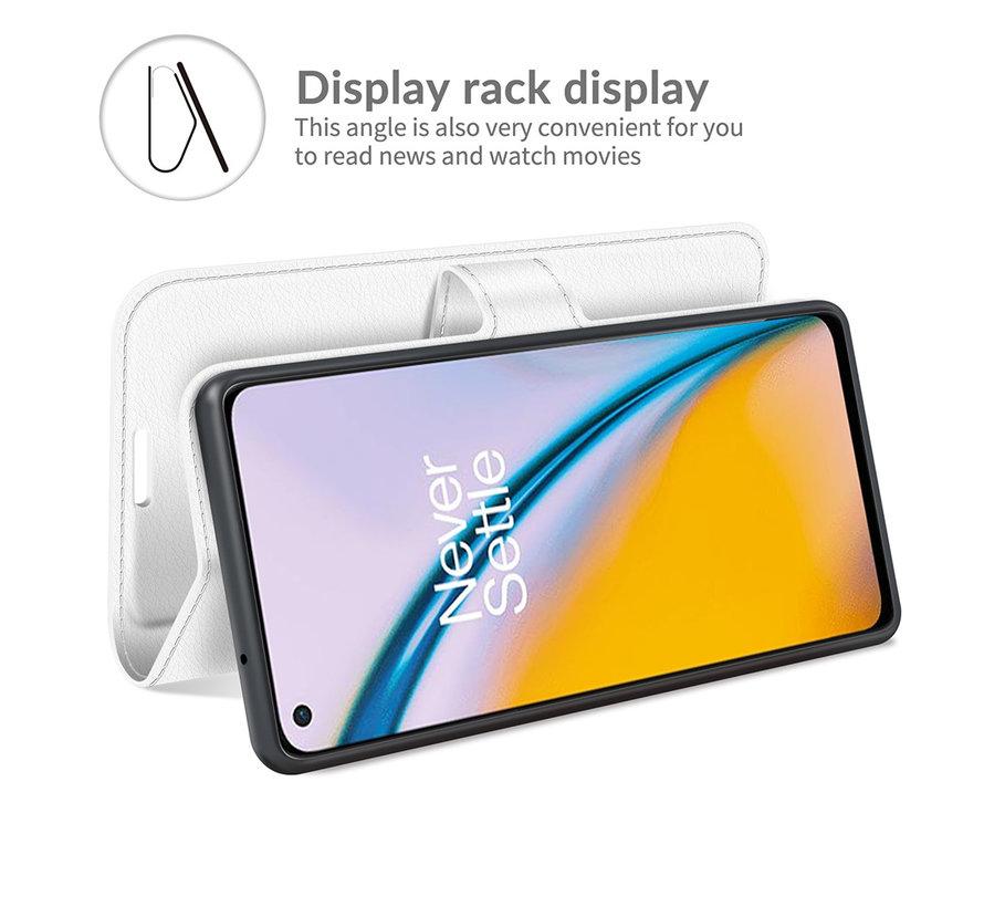OnePlus Nord 2 Wallet Flip Case Weiß