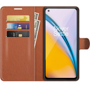 OPPRO OnePlus Nord 2 Wallet Flip Case Bruin
