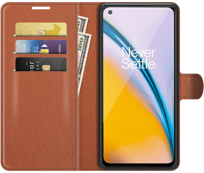 OPPRO OnePlus Nord 2 Wallet Flip Case Braun