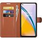 OnePlus Nord 2 Wallet Flip Case Bruin