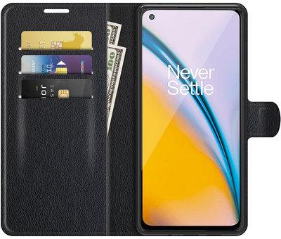 OPPRO OnePlus Nord 2 Wallet Flip Case Schwarz