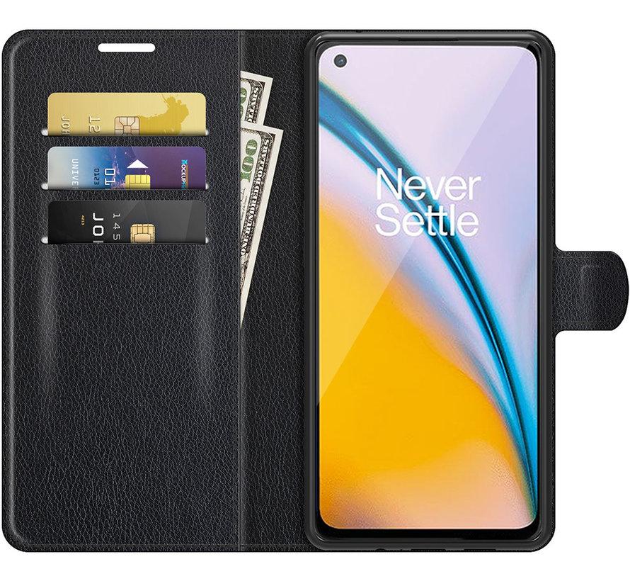 OnePlus Nord 2 Wallet Flip Case Zwart