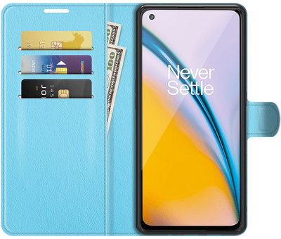 OPPRO OnePlus Nord 2 Wallet Flip Case Blau
