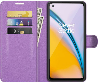 OPPRO OnePlus Nord 2 Wallet Flip Case Paars