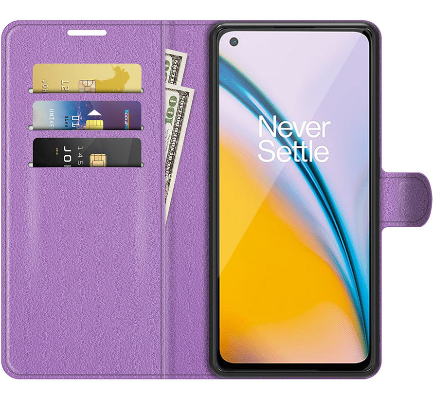 OnePlus Nord 2 Wallet Flip Case Lila