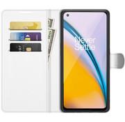 OPPRO OnePlus Nord 2 Wallet Flip Case Weiß