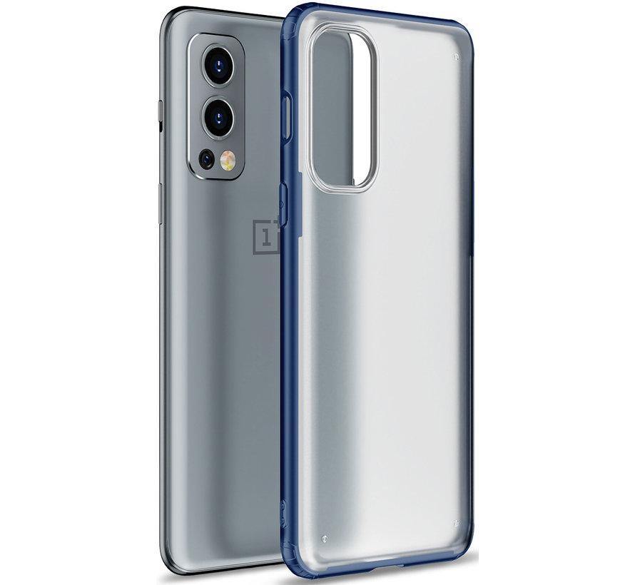 OnePlus Nord 2 Merge Bumper Hoesje Blauw