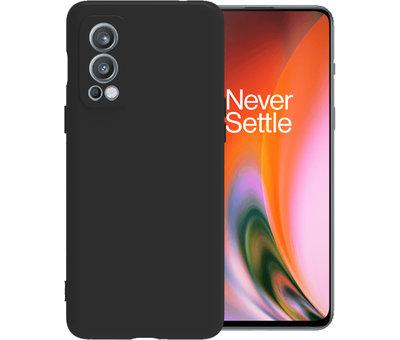 OPPRO OnePlus Nord 2 Case Flüssiges Silikon Schwarz