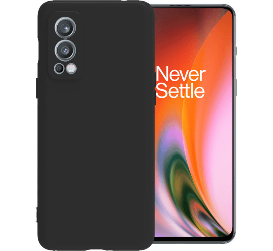 OnePlus Nord 2 Hoesje Liquid Silicone Zwart
