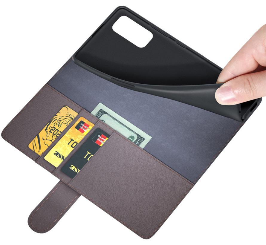 OnePlus Nord 2 Wallet Hoesje Echt Leder Bruin