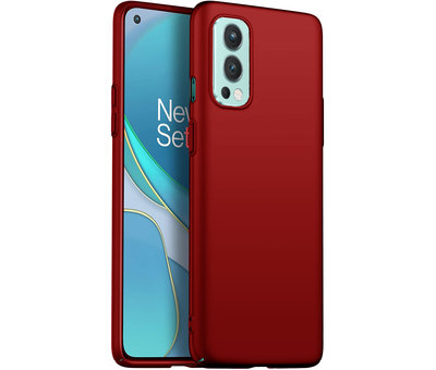OPPRO OnePlus Nord 2 Hülle Ultra Slim Grip Rot