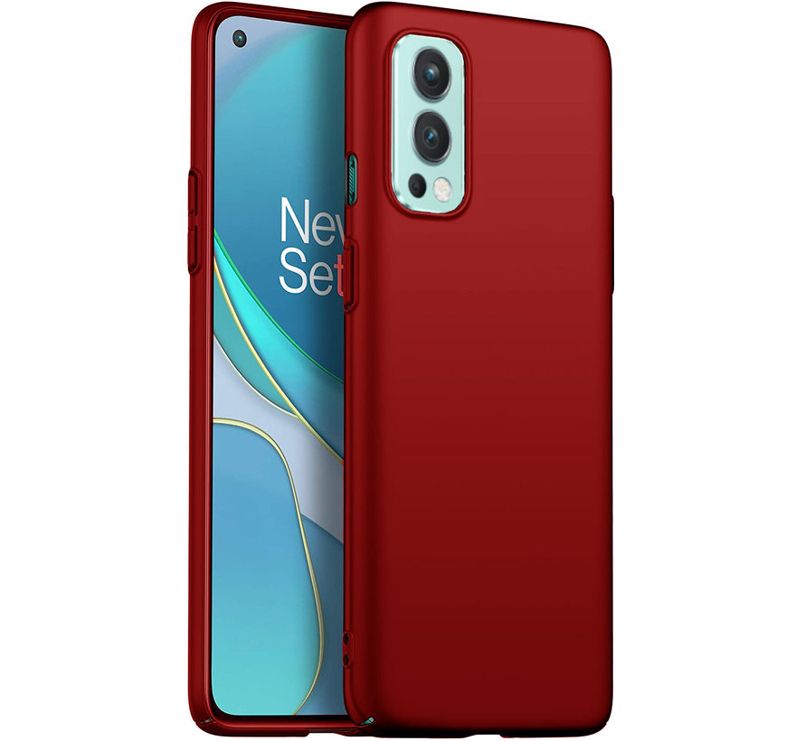 OnePlus Nord 2 Hülle Ultra Slim Grip Rot