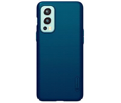 Nillkin OnePlus Nord 2 Hoesje Super Frosted Shield Blauw