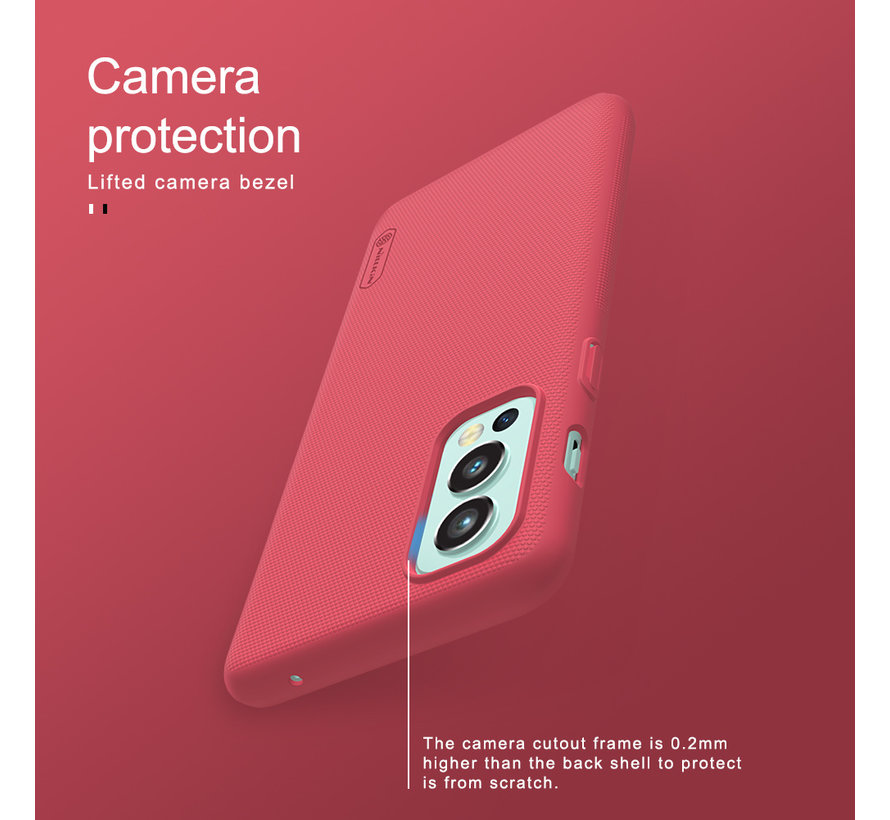 OnePlus Nord 2 Hoesje Super Frosted Shield Rood
