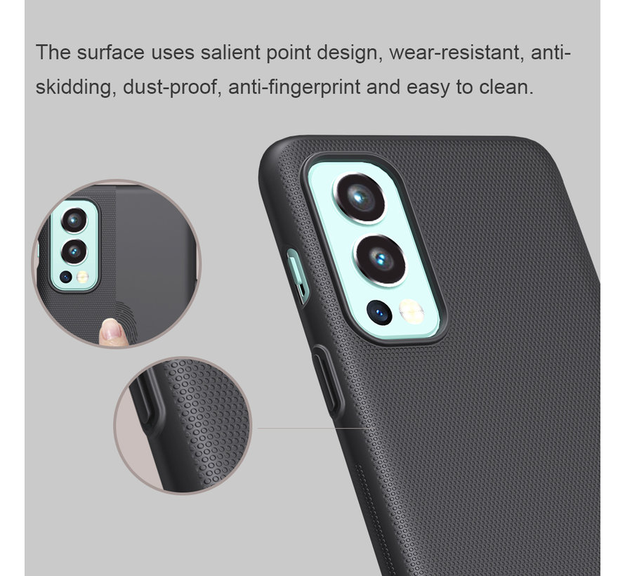 OnePlus Nord 2 Hoesje Super Frosted Shield Wit