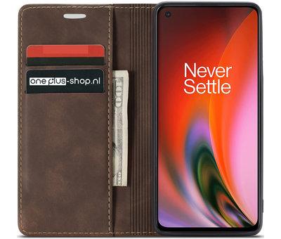 OPPRO OnePlus Nord 2 Wallet Hoesje Vintage Leder Bruin
