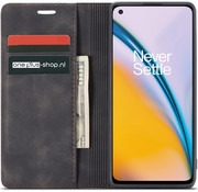 OPPRO OnePlus Nord 2 Wallet Case Vintage Leather Black