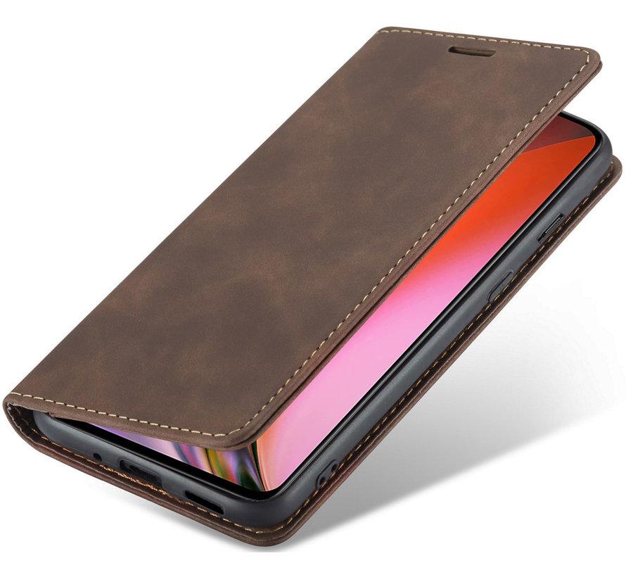 OnePlus Nord 2 Wallet Hoesje Vintage Leder Bruin
