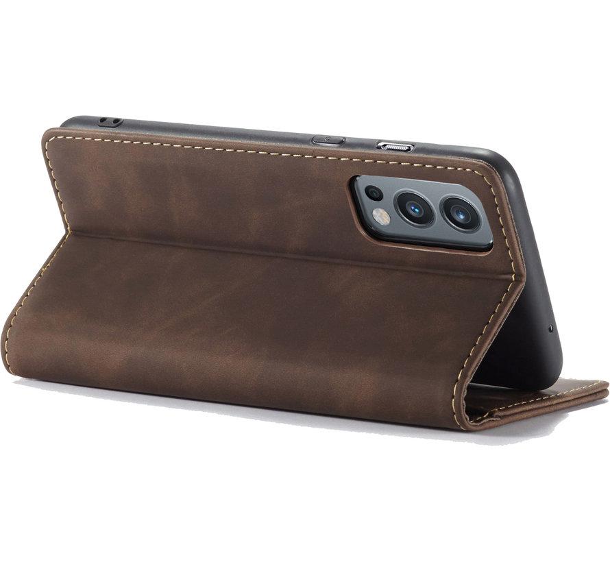 OnePlus Nord 2 Brieftasche Vintage Leder Braun