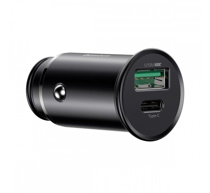 Car Charger 30W USB A & USB C