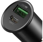 BASEUS Car Charger 30W USB A & USB C