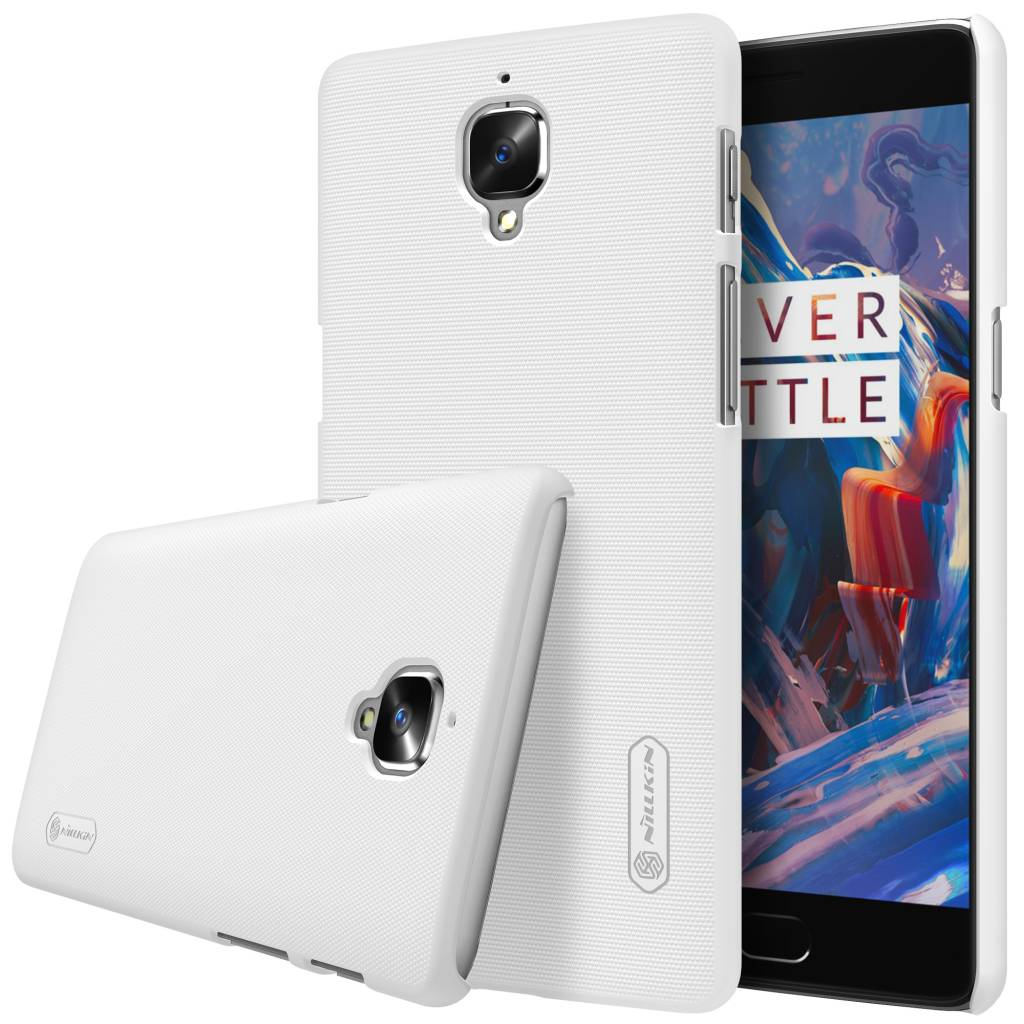 super popular 61806 6b701 Nillkin Frosted Shield Case White OnePlus 3
