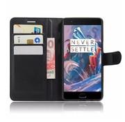OPPRO Wallet Flip Case Zwart OnePlus 3/3T