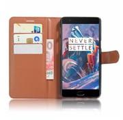 OPPRO Brieftasche Flip Case Braun OnePlus 3 / 3T