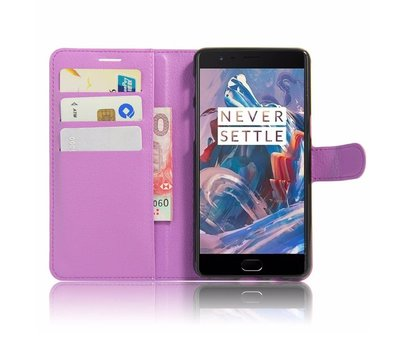 OPPRO Wallet Flip Case Purple OnePlus 3