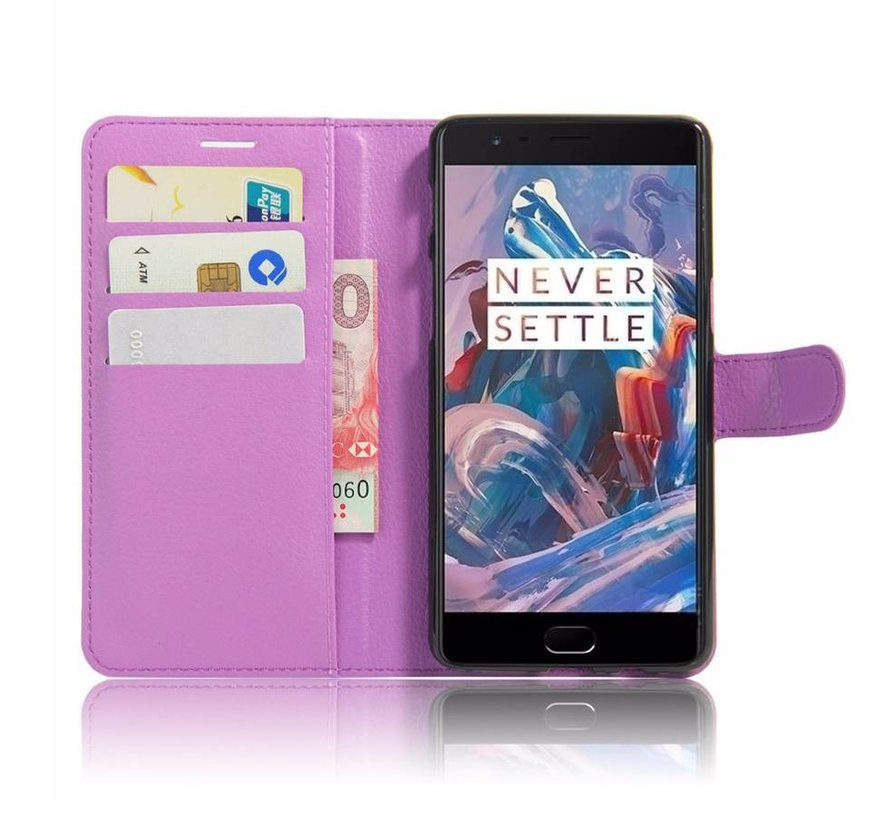 Wallet Flip Case Purple OnePlus 3