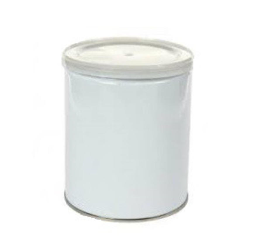 Leeg Blik voor wax blokken, parels en disks