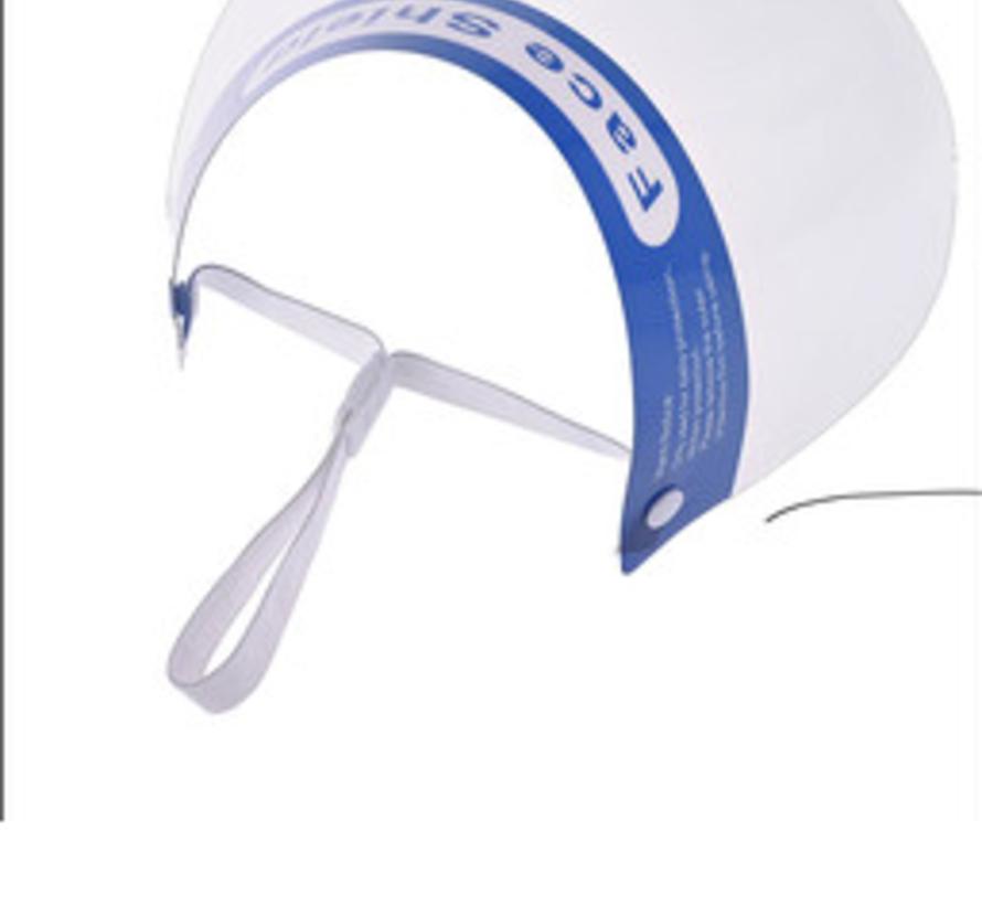 Transparante gezichtsbescherming; Spatscherm
