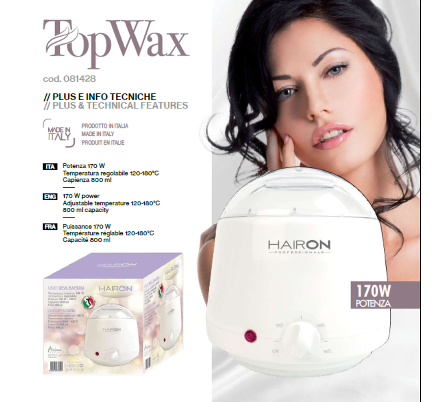 Top Wax Heater 800 ML + Gratis can