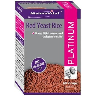 MANNAVITAL NATURAL PRODUCTS RED YEAST RICE PLATINUM + CO-ENZYME Q10 (60 V-CAPS)