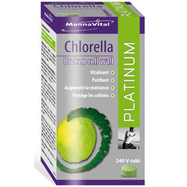 MANNAVITAL NATURAL PRODUCTS CHLORELLA BROKEN CELL WALL PLATINUM (240 V-TABLETTEN)