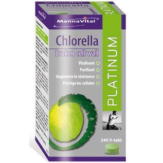 MANNAVITAL NATURAL PRODUCTS CHLORELLE PAROI CELLULAIRE BRISÉE PLATINUM (240 V-COMPRIMÉS)