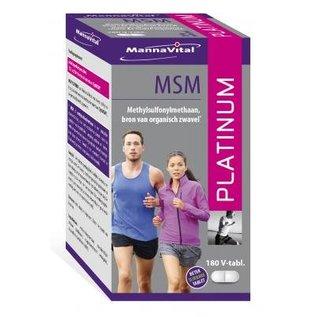 MANNAVITAL NATURAL PRODUCTS MSM PLATINUM (180 V-COMPRIMÉS)
