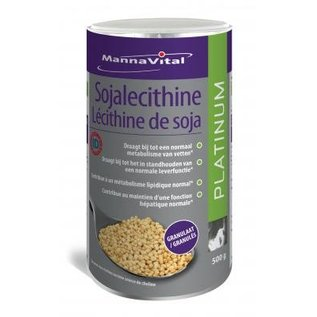 MANNAVITAL NATURAL PRODUCTS SOJALECITHINE GRANULAAT 98 % GMO-VRIJ ID CERT. PLATINUM (500 G)