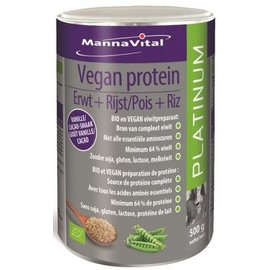 MANNAVITAL NATURAL PRODUCTS VEGAN PROTEIN PLATINUM BIO (500 G)