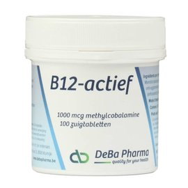 DEBA PHARMA HEALTH PRODUCTS VITAMINE B12 ACTIEF METHYLCOBALAMINE (100 ZUIGTABLETTEN)