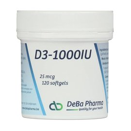 DEBA PHARMA HEALTH PRODUCTS VITAMINE D3 1000 IU (120 SOFTGELS)