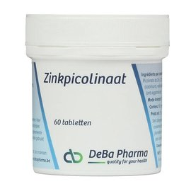 DEBA PHARMA HEALTH PRODUCTS PICOLINATE DE ZINC (60 COMPRIMÉS)