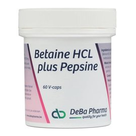 DEBA PHARMA HEALTH PRODUCTS BETAINE HCL plus PEPSINE (60 V-CAPS)