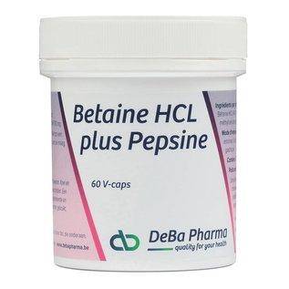 DEBA PHARMA HEALTH PRODUCTS BETAINE HCL plus PEPSINE (60 V-CAPS)