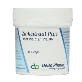 DEBA PHARMA HEALTH PRODUCTS ZINKCITRAAT PLUS (60 V-CAPS)